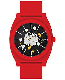 "Nixon Men's Time Teller ""Mickey Fight Cloud"" Red Strap Watch 40mm"
