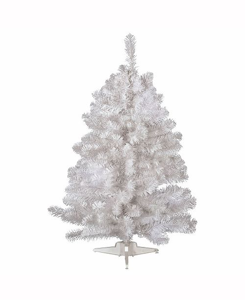 Vickerman 3 Ft Crystal White Spruce Artificial Christmas Tree Unlit