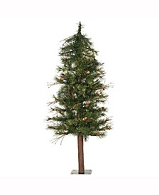 5 ft Mixed Country Alpine Artificial Christmas Tree Unlit