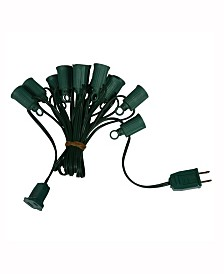 Vickerman 100' C9 Socket String With 100 C9 Sockets On 18 Gauge Spt1 Red Wire