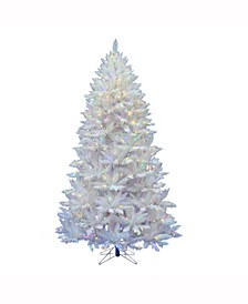 7.5 ft Sparkle White Spruce Artificial Christmas Tree With 750 Multi-Colored Led Lights