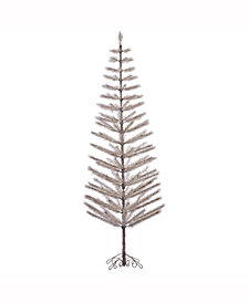 Vickerman 9' Champagne Feather Artificial Christmas Tree Unlit