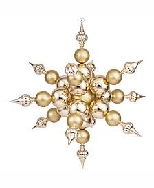 "Vickerman 39"" Gold Shiny Radical Snowflake Christmas Ornament"