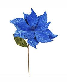 "Vickerman 22"" Blue Poinsettia Artificial Christmas Flower"