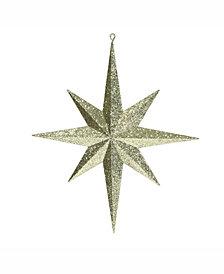 "Vickerman 15.75"" Gold Iridescent Glitter Bethlehem Star Christmas Ornament"