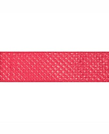 """2.5"""" Red Quilted Lame Christmas Ribbon"""