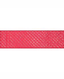 """Vickerman 2.5"""" Red Quilted Lame Christmas Ribbon"""