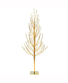 Vickerman 8' Gold Artificial Christmas Tree With 800 Warm White Led Lights