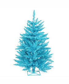Vickerman 2 ft Sky Blue Artificial Christmas Tree