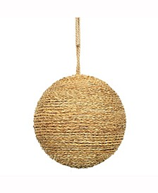 "8"" Camel Rope Ball Ornament."