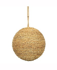 """8"""" Camel Rope Ball Ornament."""
