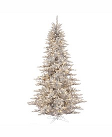 7.5' Silver Tinsel Fir Artificial Christmas Tree