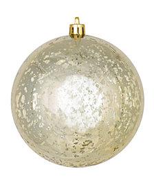"""Vickerman 6"""" Champagne Shiny Mercury Ball Christmas Ornament, 4 Per Bag"""