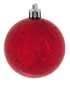 "Vickerman 12"" Red Shiny Mercury Ball Christmas Ornament"