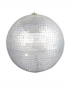 """Vickerman 6"""" Silver Mirror Ball Ornament"""