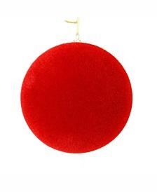 "Vickerman 6"" Red Flocked Ball Ornament"