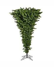 5.5 ft Green Upside Down Artificial Christmas Tree With 250 Multi-Colored Led Lights