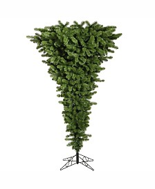Vickerman 5.5 ft Green Upside Down Artificial Christmas Tree With 250 Multi-Colored Led Lights