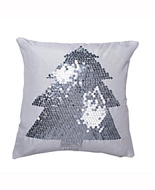 Vickerman Decorative Pillow Featuring Elegant Pure White Polysilk Dupioni