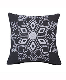 Vickerman Decorative Pillow Featuring Festive Frost Grey Duckcloth
