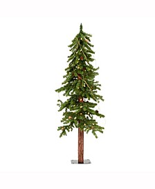 4 ft Alpine Artificial Christmas Tree, Featuring 337 Pvc Tips And 100 Warm White Dura-Lit Led Lights