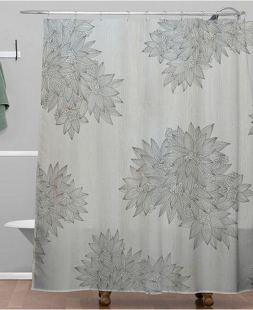 Deny Designs Iveta Abolina Beach Day Gray Shower Curtain