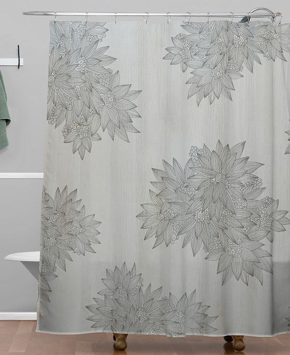 Deny Designs Iveta Abolina Beach Day Gray Shower Curtain
