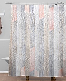 Iveta Abolina Farmhouse Peach Shower Curtain