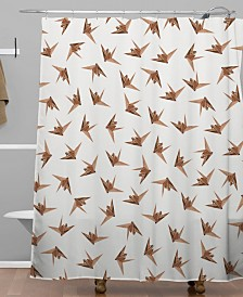 Deny Designs Iveta Abolina Wood Origami Shower Curtain