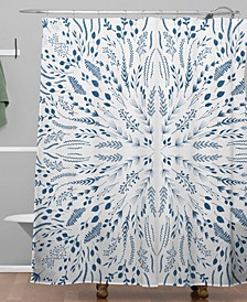 Iveta Abolina Indigo Maze Shower Curtain
