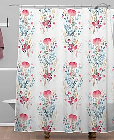 Iveta Abolina Strawberry Punch Shower Curtain
