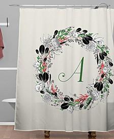 Iveta Abolina Silver Dove Christmas A Shower Curtain