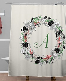 Deny Designs Iveta Abolina Silver Dove Christmas A Shower Curtain