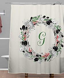 Iveta Abolina Silver Dove Christmas G Shower Curtain