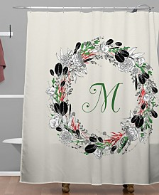Deny Designs Iveta Abolina Silver Dove Christmas M Shower Curtain