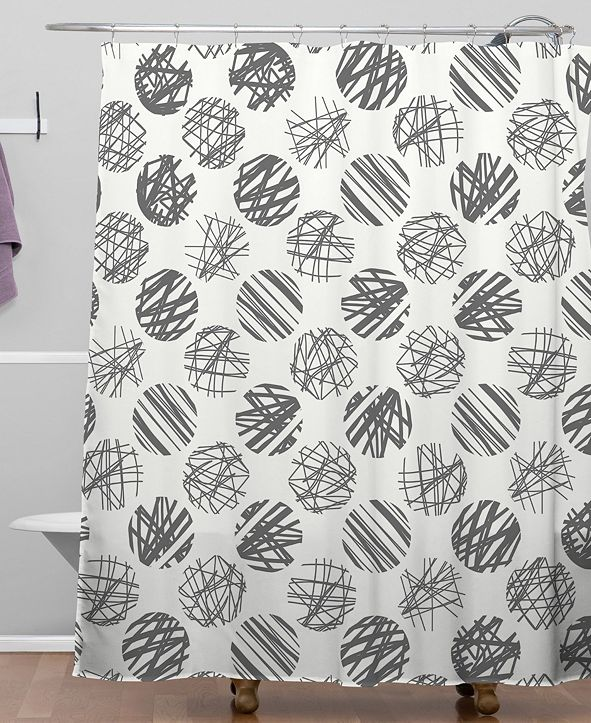 Deny Designs Iveta Abolina Notebook Gray Shower Curtain