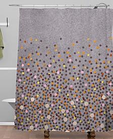Iveta Abolina Coral Splash Shower Curtain