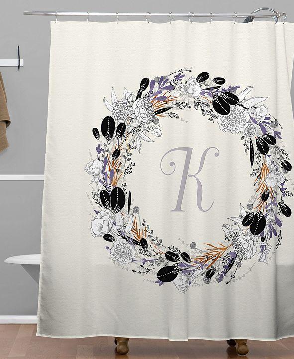 Deny Designs Iveta Abolina Silver Dove K Shower Curtain