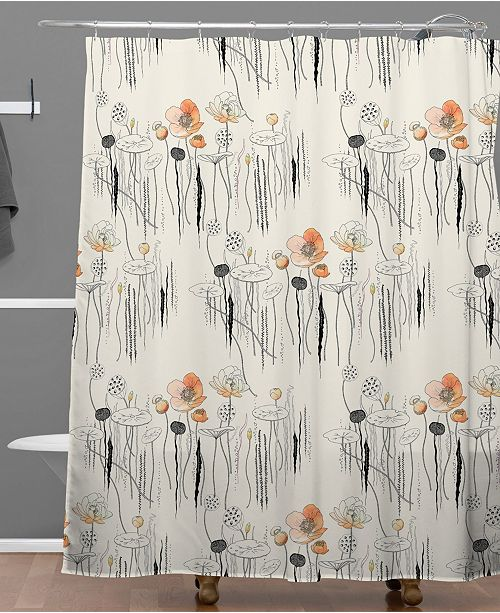 Deny Designs Iveta Abolina Coral Watercress Pond Shower Curtain