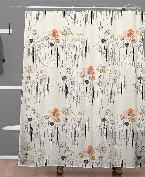 Deny Designs Iveta Abolina Coral Watercress Pond Shower Curtain
