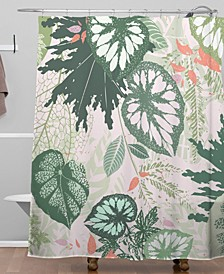 Iveta Abolina Alocasia Garden Green Shower Curtain