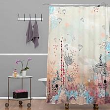 Iveta Abolina Cream Tribal Shower Curtain