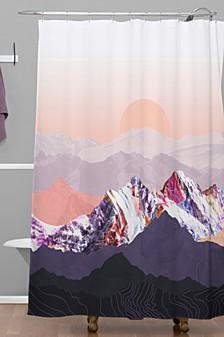 Iveta Abolina Peach Sunset Shower Curtain