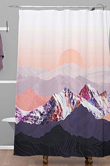 Deny Designs Iveta Abolina Peach Sunset Shower Curtain