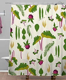 Iveta Abolina Rhubarb Garden Shower Curtain