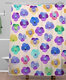 Iveta Abolina Moselle Cream Shower Curtain
