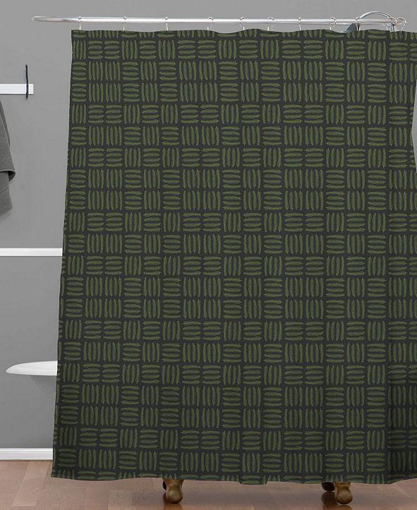Deny Designs Iveta Abolina Pine Needle Checker III Shower Curtain