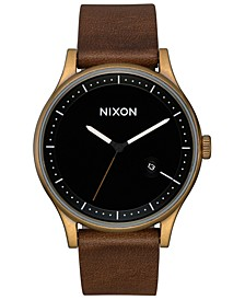 Men's Station Leather Strap Watch 41mm