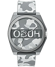 Unisex #Play Gray Camo Rubber Strap Watch 40mm