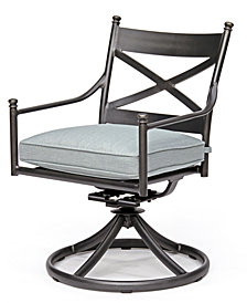 Montclaire Outdoor Swivel Chair With Sunbrella® Cushion, Created For Macy's